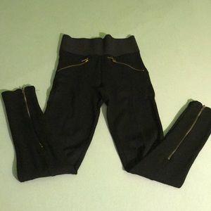 Zara XS leggings with zippers